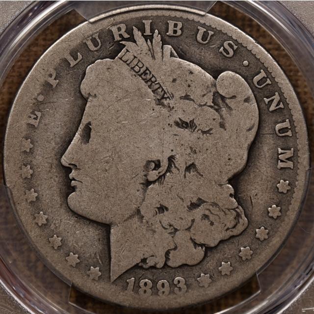 1893-CC Morgan Dollar PCGS AG3 CAC