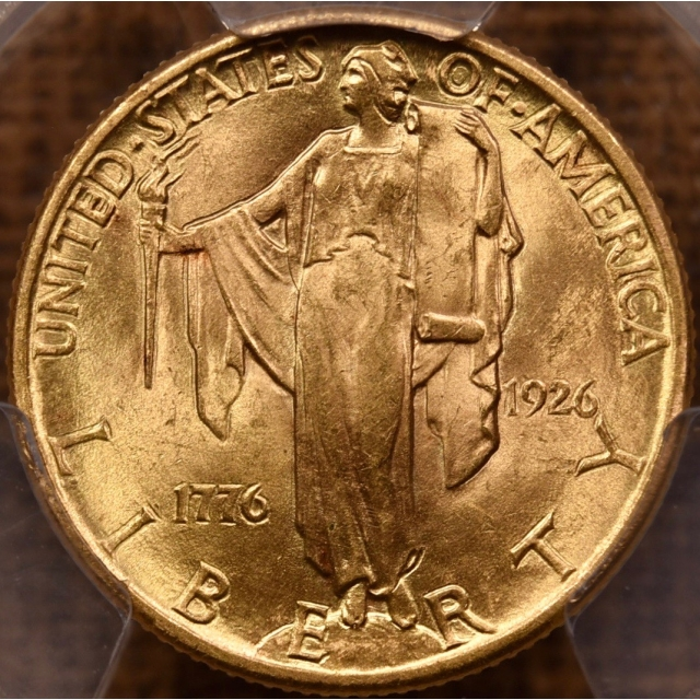 1926 $2.50 Sesquicentennial Gold Commemorative PCGS MS63