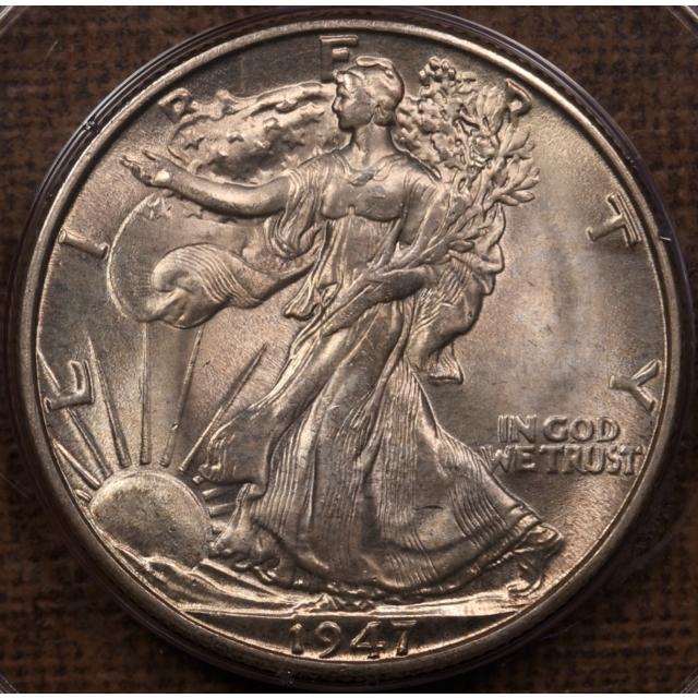 1947-D Walking Liberty Half Dollar PCGS MS65 Rattler