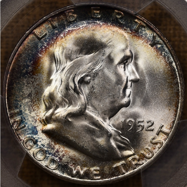 1952-S Franklin Half Dollar PCGS MS64+, Gem?  Beautiful!