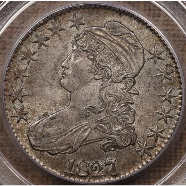1827/6 O.101 Capped Bust Half Dollar PCGS AU58 CAC, ex. DMB:46 Lot 58