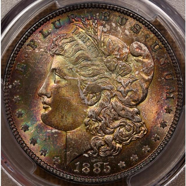 1885 Morgan Dollar PCGS MS65+ CAC C-O-L-O-R