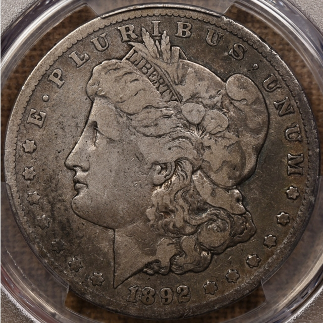 1892-CC Morgan Dollar PCGS F12