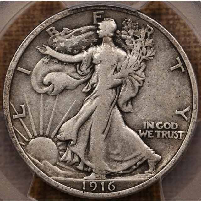 1916 Walking Liberty Half Dollar PCGS VF30