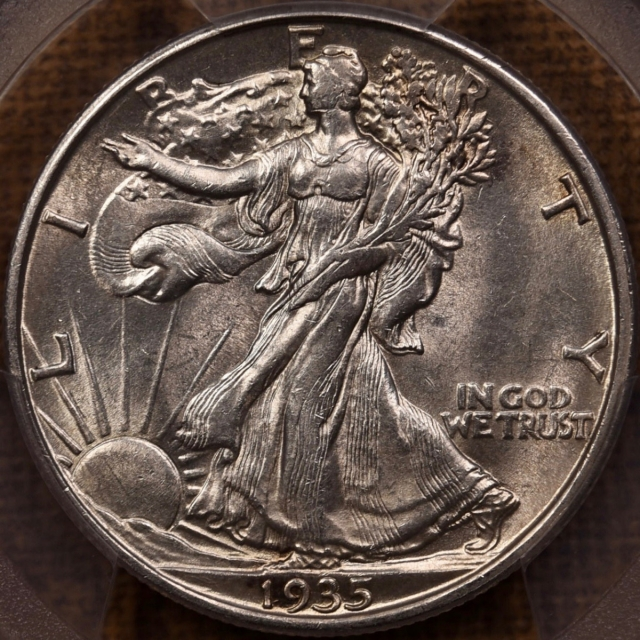 1935-D Walking Liberty Half Dollar PCGS AU58