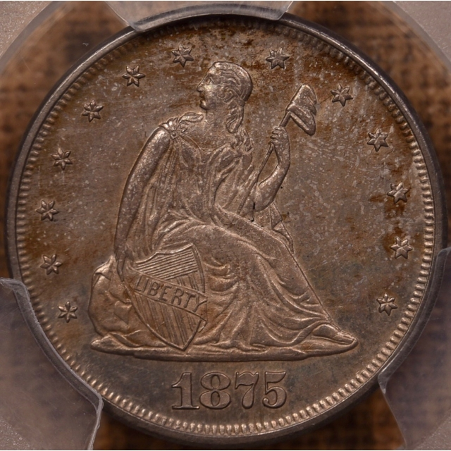 1875 Twenty Cent PCGS MS63, 041 Collection