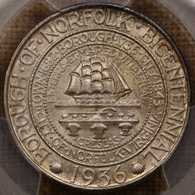 1936 Norfolk Silver Commemorative PCGS MS66 CAC