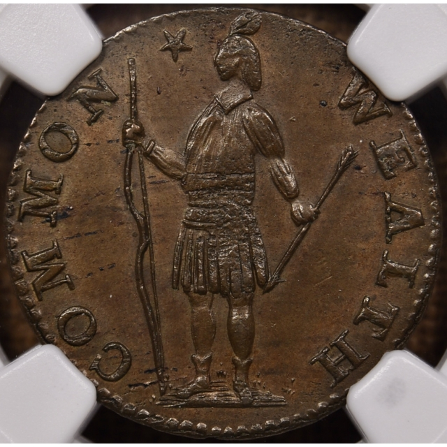 1788 R-1-B W-6010 Massachusetts Half Cent NGC MS63 BN, ex. Col E.H.R. Green, Newman