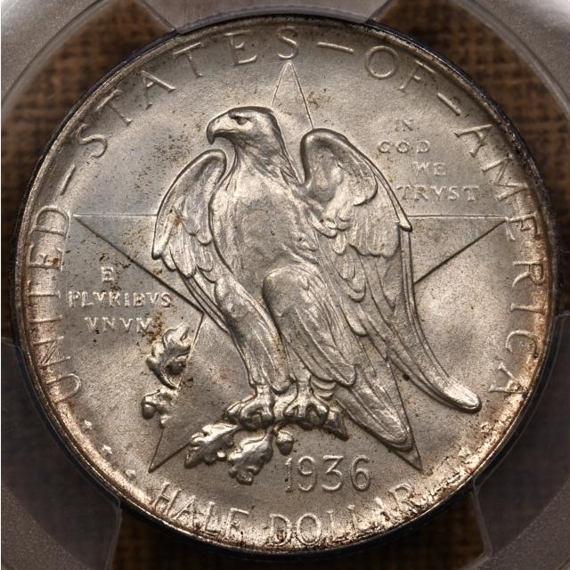 1936-D Texas Silver Commemorative PCGS MS66 CAC