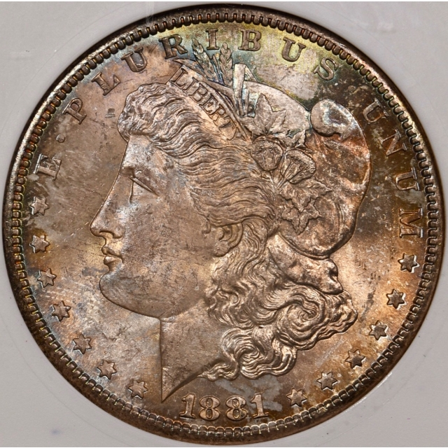 1881-S Morgan Dollar old ANACS MS65 COLOR!