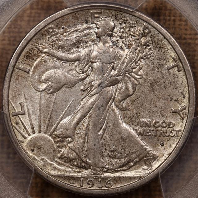1916-D Walking Liberty Half Dollar PCGS AU55 CAC