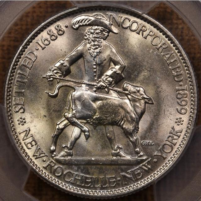 1938 New Rochelle Silver Commemorative PCGS MS64