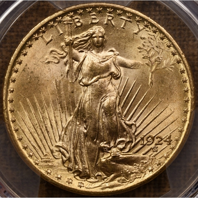 1924 $20 Saint Gaudens Double Eagle PCGS MS64