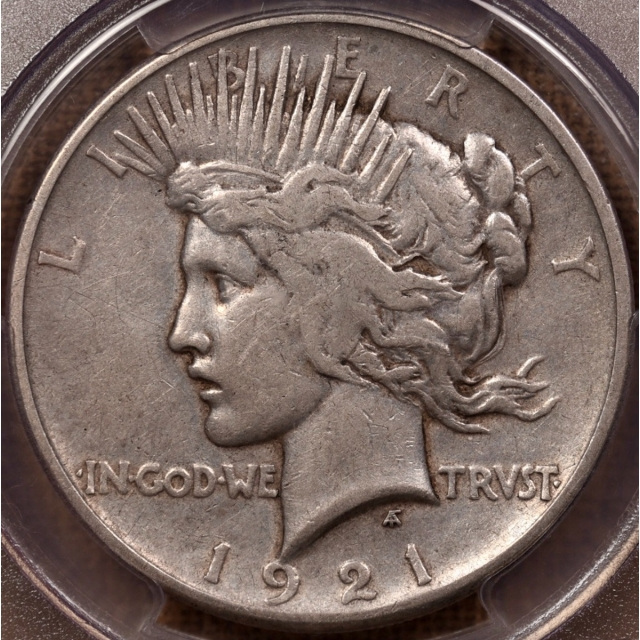 1921 Peace Dollar PCGS VF30 CAC