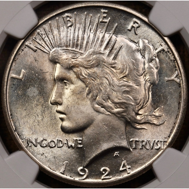 1924-S Peace Dollar NGC MS63