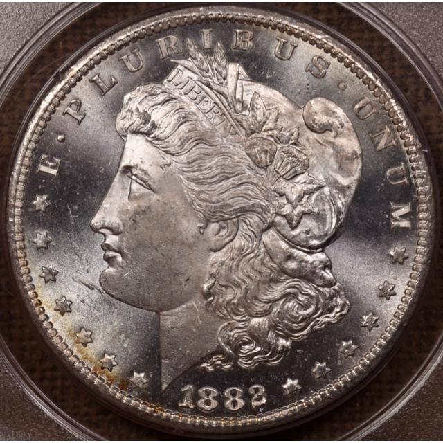 1882-CC Morgan Dollar PCGS MS65 PL Rattler CAC