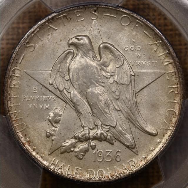 1936-S Texas Silver Commemorative PCGS MS66 CAC