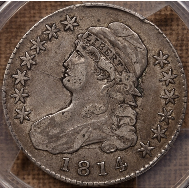 1814 O.109 Capped Bust Half Dollar PCGS VF30 CAC