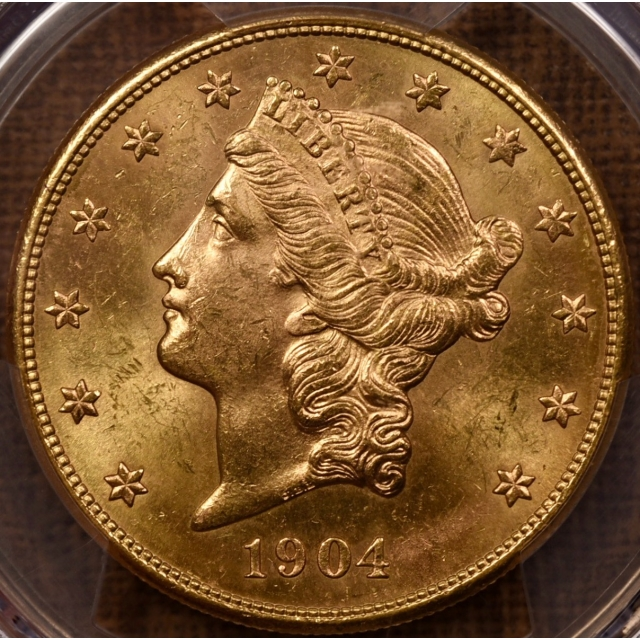 1904-S $20 Liberty Head Double Eagle PCGS MS63 CAC