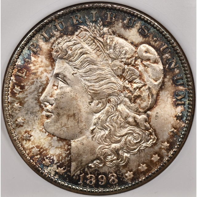 1898-O Morgan Dollar old ANACS MS65, COLOR!