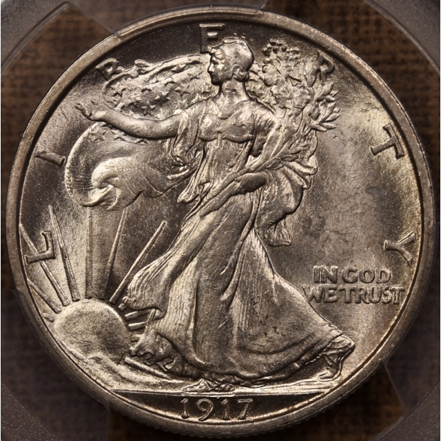 1917 Walking Liberty Half Dollar PCGS MS63