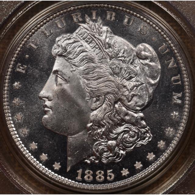 1885 Morgan Dollar PCGS MS65 DMPL OGH & CAC