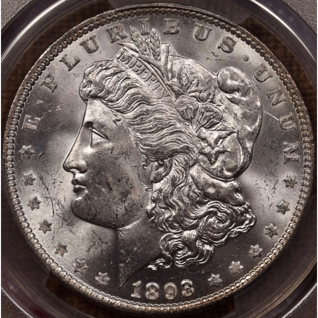 1893 Morgan Dollar PCGS MS62 CAC