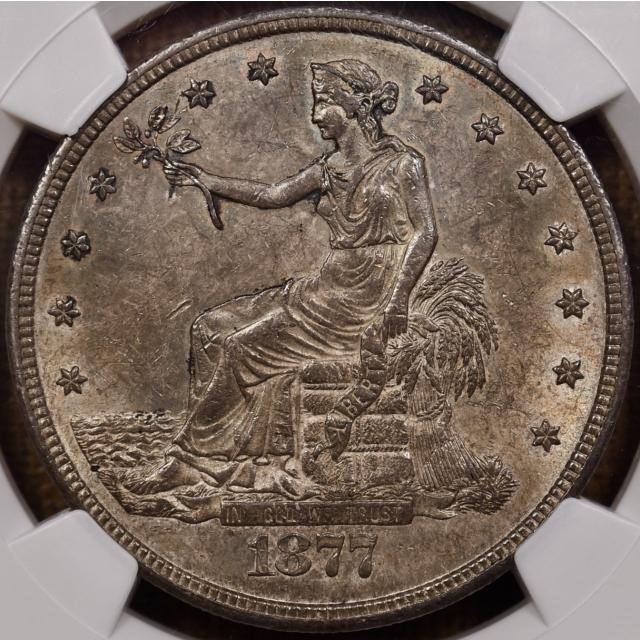 1877-CC Trade Dollar NGC MS63 CAC