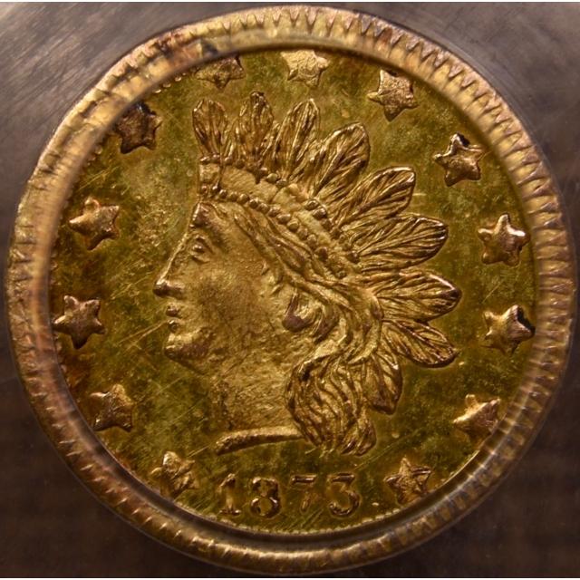 1873 BG-1051 50c California Fractional Gold PCGS MS63