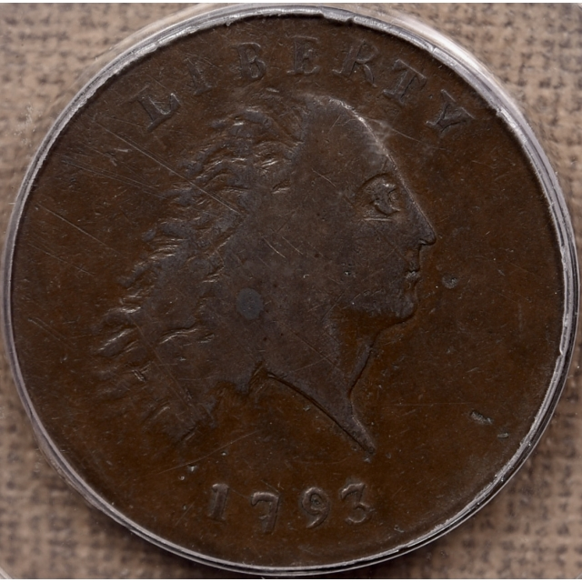 1793 S.3 Chain AMERICA Flowing Hair Large Cent PCGS F15 OGH