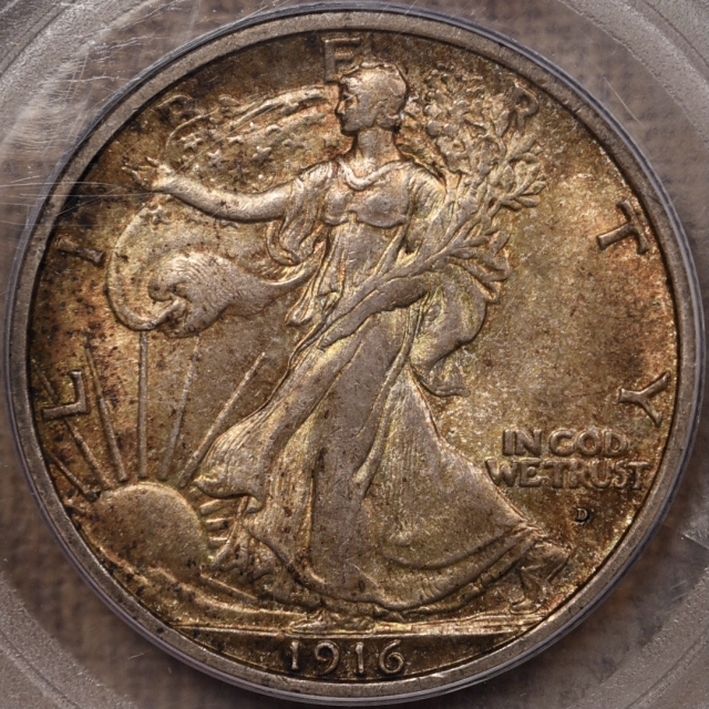 1916-D Walking Liberty Half Dollar PCGS MS63 CAC