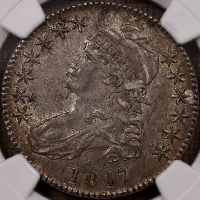 1817 O.113a R4 Capped Bust Half Dollar NGC AU55 CAC, wow