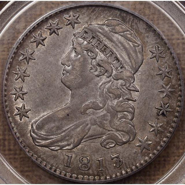 1817/3 O.101 Capped Bust Half Dollar PCGS AU50 CAC, ex. Fairfax