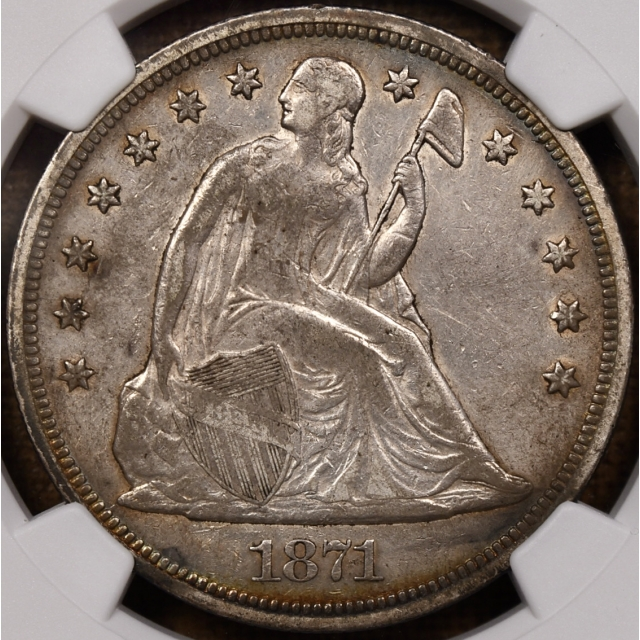 1871 Liberty Seated Dollar NGC XF45