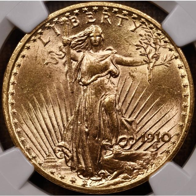 1910 Saint Gaudens $20 NGC MS62 CAC