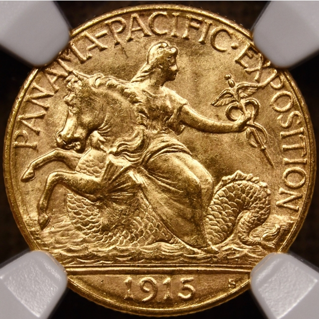 1915-S Panama Pacific Gold Commemorative $2.50 NGC MS64 CAC