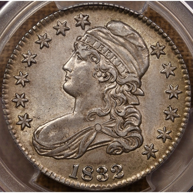 1832 O.103 Small Letters Capped Bust Half Dollar PCGS AU58 CAC