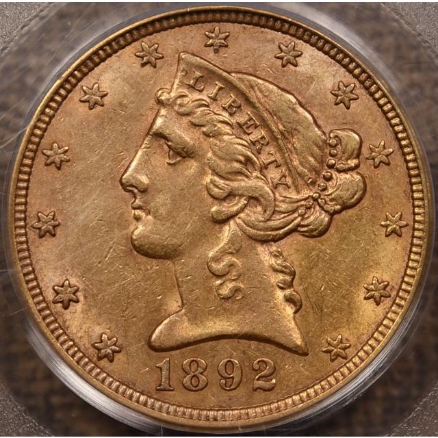 1892-S $5 Liberty Head Half Eagle PCGS XF45 OGH CAC