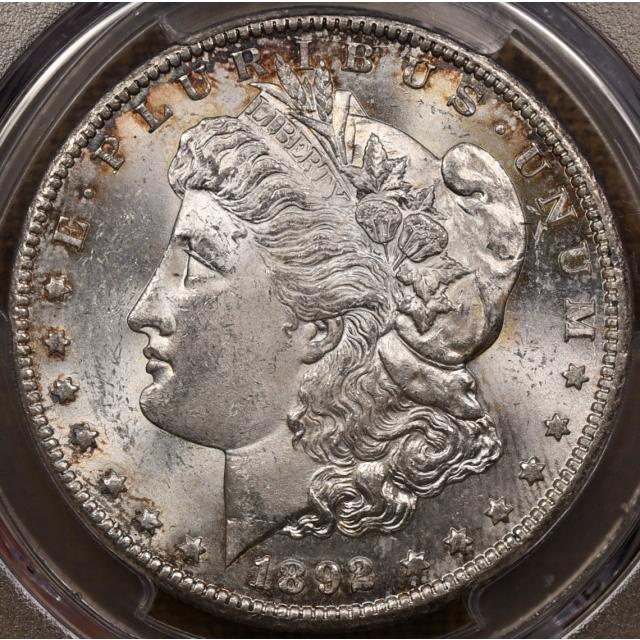 1892-CC Morgan Dollar PCGS MS62 CAC