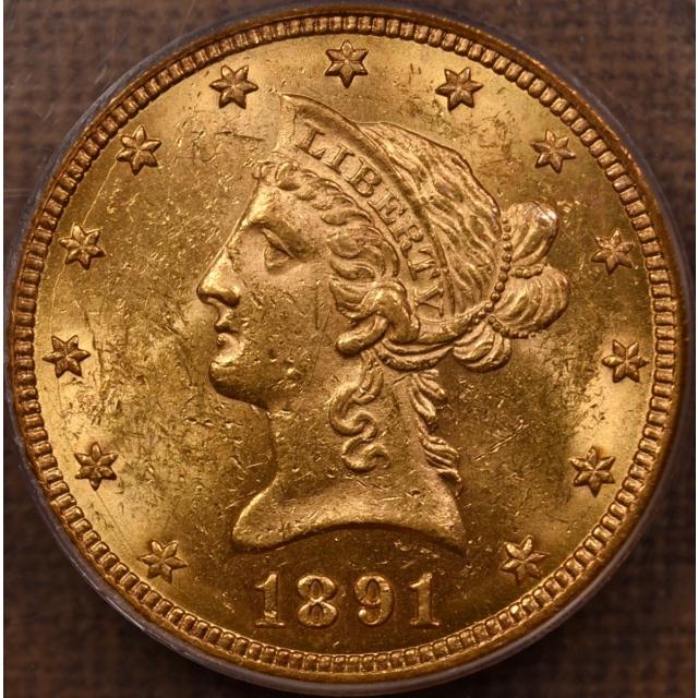 1891-CC $10 Liberty Head Eagle PCGS MS60 OGH CAC