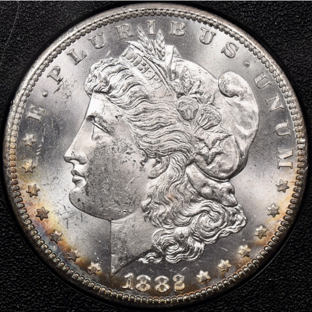 1882-CC GSA Morgan Dollar NGC MS63, flashy rainbow!