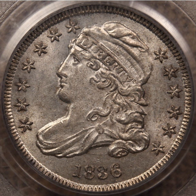 1836 JR-3 Block 8 Capped Bust Dime PCGS MS61 OGH CAC