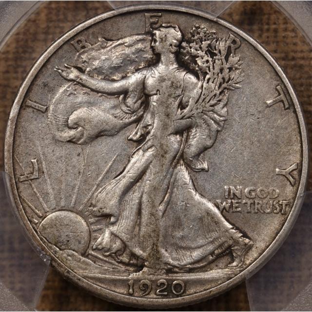 1920-S Walking Liberty Half Dollar PCGS VF25, I grade VF30!