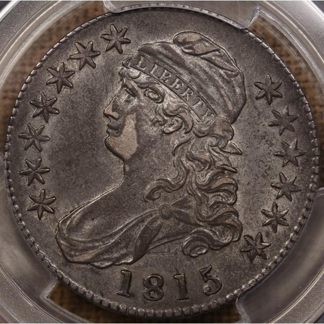 1815/2 O.101 Capped Bust Half Dollar PCGS AU53 CAC