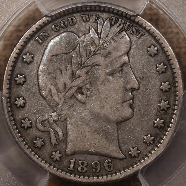 1896-S Barber Quarter PCGS VF20 CAC