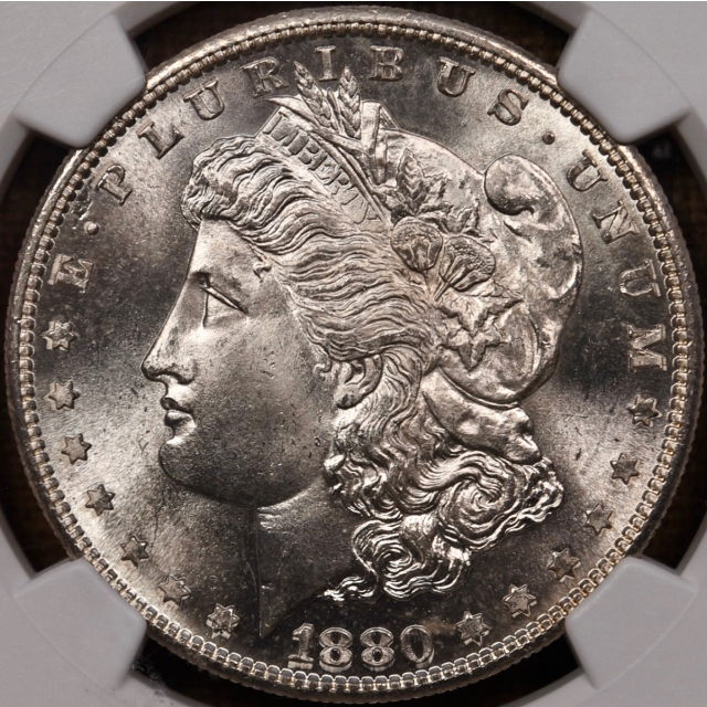 1880-S Morgan Dollar NGC MS65 CAC, PQ+
