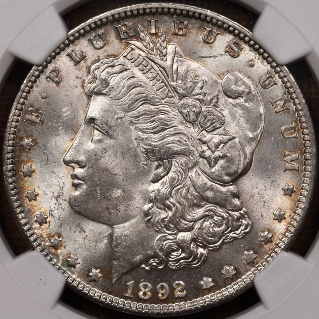 1892 Morgan Dollar NGC MS62 CAC