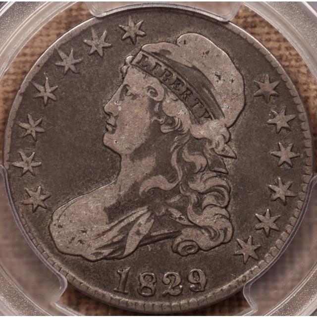 1829/7 O.101a Capped Bust Half Dollar PCGS VF20