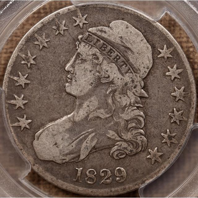 1829 O.106 R5- Capped Bust Half Dollar PCGS VF25
