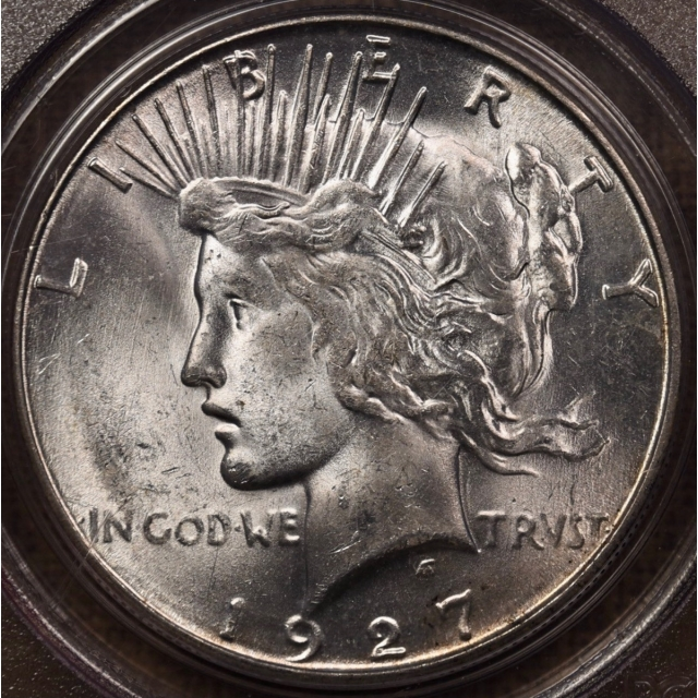 1927-S Peace Dollar PCGS MS63 OGH CAC